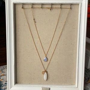 Stella & Dot Mutli layer Stone Necklace